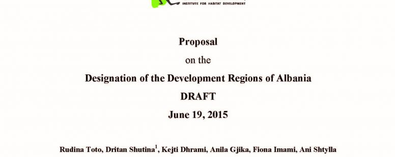 Designation of the Development Regions of Albania