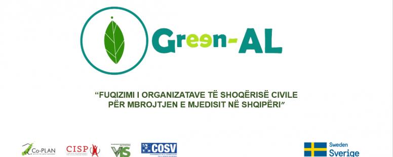 Green-AL – Fuqizimi i Organizatave të Shoqërisë Civile për mbrojtjen e mjedisit në Shqipëri