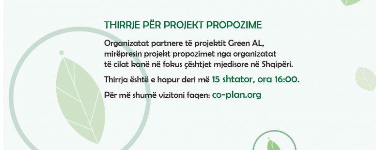 """Green-AL """"Fuqizimi i Organizatave të Shoqërisë Civile për Mbrojtjen e Mjedisit në Shqipëri"""""""